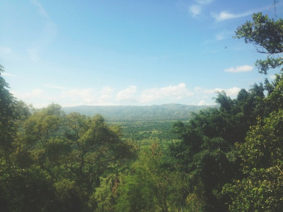 View from the waterfall overlooking Turpin.